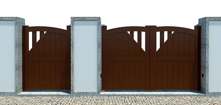 Portões de batente em aluminio AGM